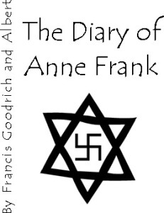 Program cover design for Destination Theatre Company's (DTC) The Diary of Anne Frank