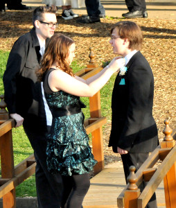 Pre-prom candid photo